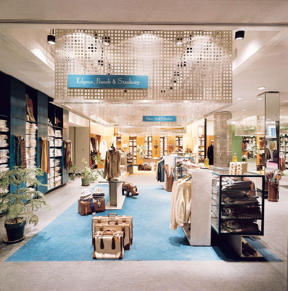 Facade and interior design for barney 39 s for Interior design online shop