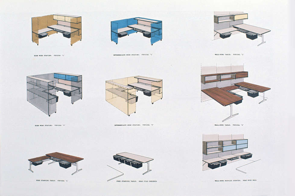 Office Equipment Systems for Herman Miller-Not Produced, Basic Office
