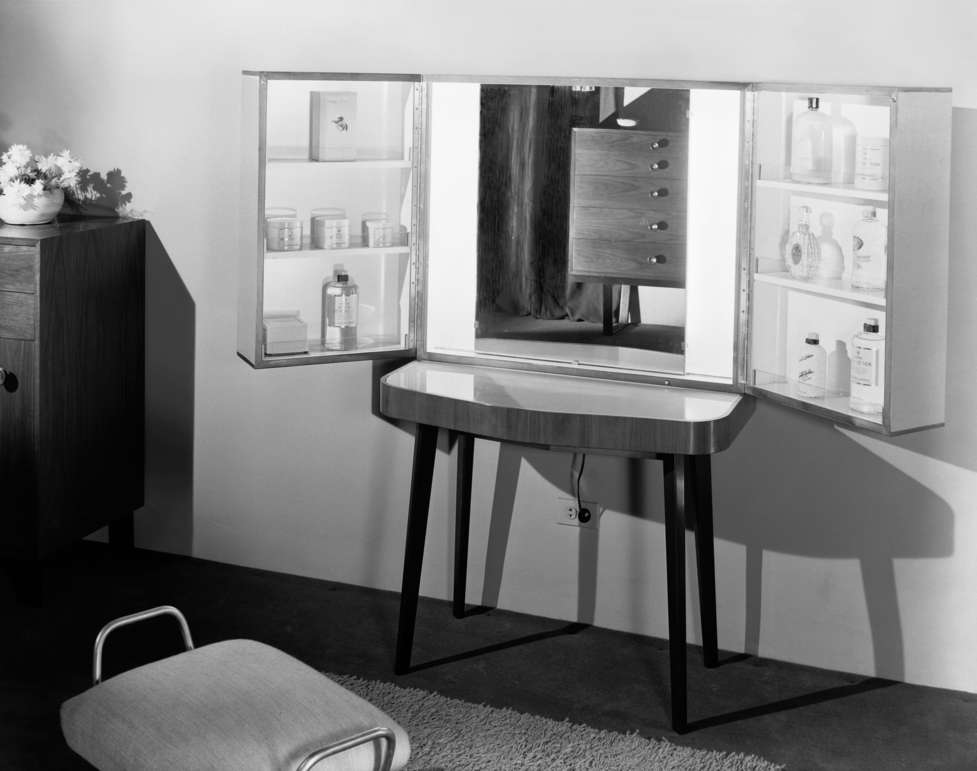 Vanity (Dressing table with shelving unit resting on top)